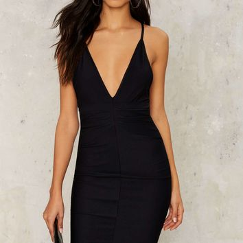 Deeper and Deeper Plunging Dress