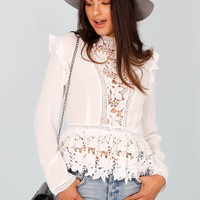 Just For Frills Lace Top - White