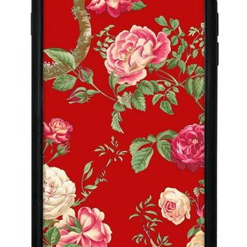 Red Floral iPhone 6/7/8 Plus Case