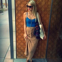Spinner Maxi Skirt style pic on Free People