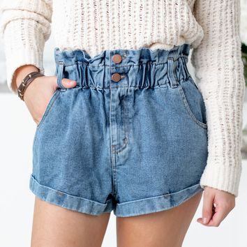 Ruffled High Waist Shorts