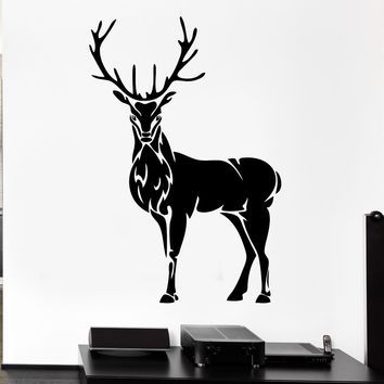 HWHD 2016 new home Wall Decal Deer Horn Elk Hunting Animal Forest Hooves Vinyl Stickers Free shipping