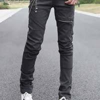 Black Five-Pocket Skinny Jeans