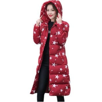 Wadded Cotton Jacket Women New Winter Coat Female Fashion Warm Parkas Hooded Women's Down Jacket Casual Coat Plus Size 3XL C2381