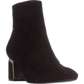 DKNY Corrie Ankle Boots, Black Suede, 7 US / 37.5 EU