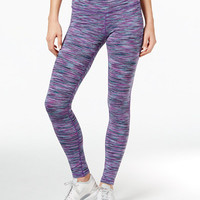Ideology Space-Dyed Training Leggings, Only at Macy's - Activewear - Women - Macy's