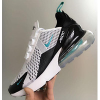 Nike Air Max 270 Stylish Women Men Leisure Air Cushion Sport Shoes Running Sneakers White I