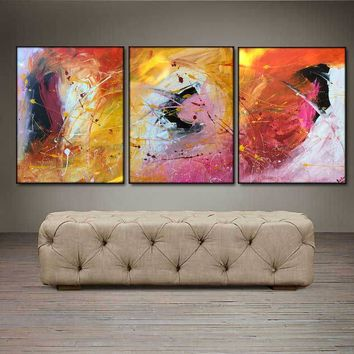 """'April 006'  - 48"""" X 20"""" Original Abstract  Art.  Free-shipping within USA & 30 day return."""