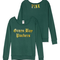 Green Bay Packers Slouchy Crew - PINK - Victoria's Secret