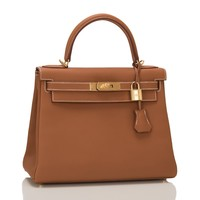 Hermes Gold Togo Kelly 28cm Gold Hardware-For Salma