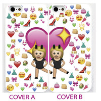 BFF emoji,mojis,best friend>friends>blond girls iPhone 4s,5C,5,6 plus cover Case