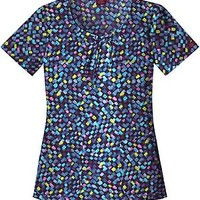 Dickies New Blue Scoop Neck Top Scrubs | MyNursingUniforms
