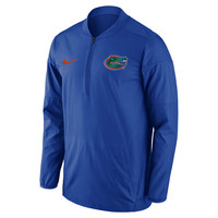 Men's Nike Royal Florida Gators 2017 Coaches Sideline Lockdown Performance Half-Zip Jacket
