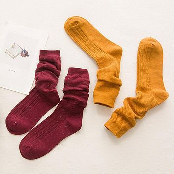 PEONFLY Cotton Heap funny women Literature Mori Socks Relent Volume Canister Candy Colour-purity Color System Woman hosiery