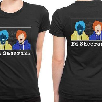 CREYP7V Ed Sheeran Double Connection 2 Sided Womens T Shirt
