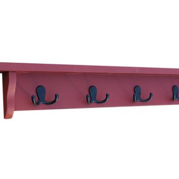 Coat Rack - Key Rack - Shelf - Painted Wood