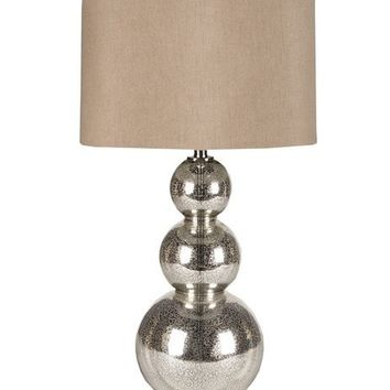 Lucinda Silver Mercury Glass Table Lamp