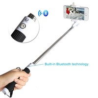 SmartBB(TM) Rechargeable Self-portrait Bluetooth Monopod Extendable Selfie Stick with Adjustable Holder Specially Designed for iphone 6plus 6 5s 5c 5 4s 4, Galaxy S5 S4 S3 Note 3, 4, Nexus 4, HTC One M8 and Other Smartphone(black)