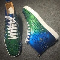 Cl Christian Louboutin Louis Spikes Style #1855 Sneakers Fashion Shoes - Sale