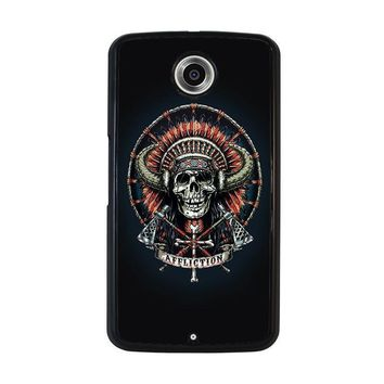affliction indian skull nexus 6 case cover  number 1