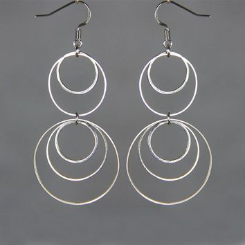 Big dangling hoop Earrings  Bridesmaid gifts Free US Shipping handmade Anni designs