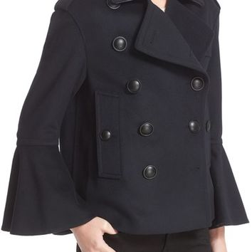 Burberry Juliette Townhill Double Breasted Peacoat | Nordstrom