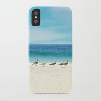 wave watching iPhone Case by sylviacookphotography