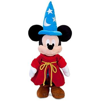 """Licensed cool Disney Store EXC Mickey Mouse Club Sorcerer Fantasia 24"""" (60.96 CM) Plush NEW"""