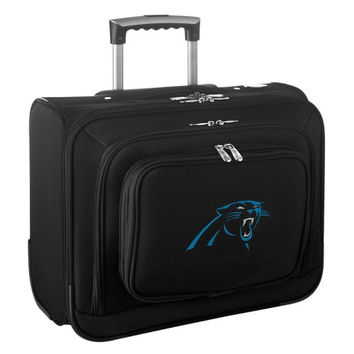 Carolina Panthers Carry-On Rolling Laptop Bag - Black - http://www.shareasale.com/m-pr.cfm?merchantID=7124&userID=1042934&productID=540325731 / Carolina Panthers