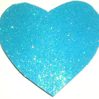 Blue Glitter Foam Heart Kawaii Sweet Lolita Love Hair Comb