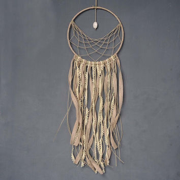 New Fashion Gift India Lace & Stone Dreamcatcher Wind Chimes Indian Style Feather Pendant Dream Catcher Regalo D6001