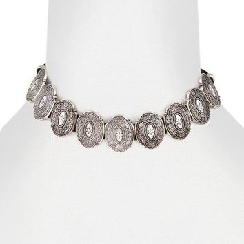 DURANGO CHOKER NECKLACE - SILVER