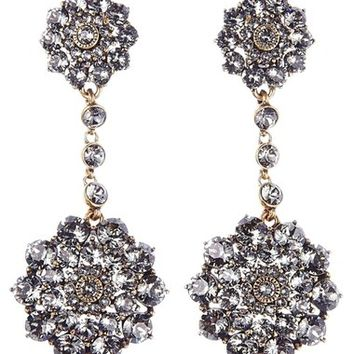 Oscar de la Renta 'Classic Jeweled' Swarovski Crystal Drop Earrings | Nordstrom