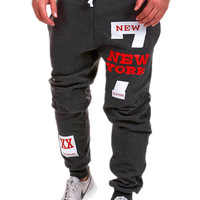 Casual Pants Gym Alphabet Hip-hop Print Design Sportswear [6541430403]