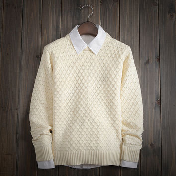 Men's Comfortable Soft Solid Sweater