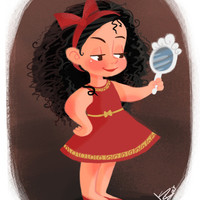 Disney Little Villain - Gothel Art Print by Vivianne du Bois