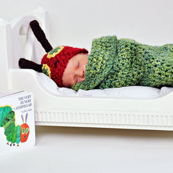 Very Hungry Caterpillar Newborn Cocoon and by TinyTiptoesBoutique