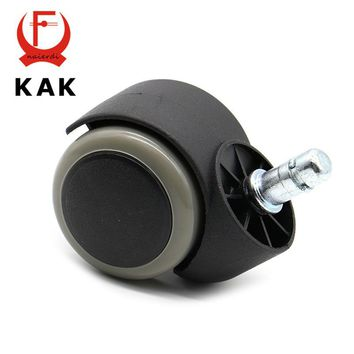 "KAK Gray 50KG Universal Mute Wheel 2"" Replacement Office Chair Swivel Casters Rubber Rolling Rollers Wheels Furniture Hardware"