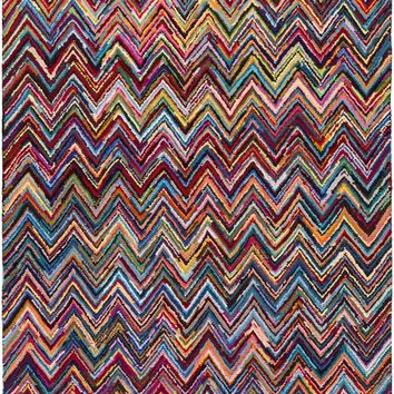 Boho Area Rug Pink, Multi-Color