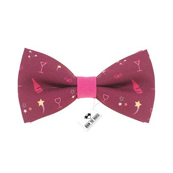 Champagne Pink Bow Tie
