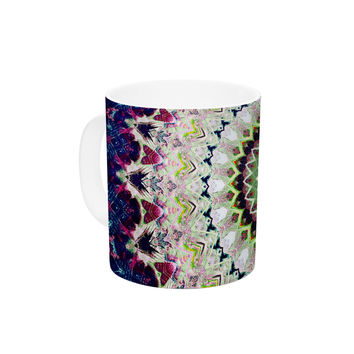 "Iris Lehnhardt ""Summer of Folklore"" Pink Navy Ceramic Coffee Mug"