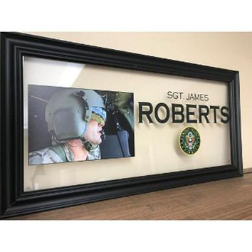 Military Personalized photo, Marine Girlfriend Photo frames, Hand Made By Veterans