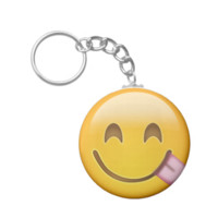 Face Savouring Delicious Food Emoji Key Chains
