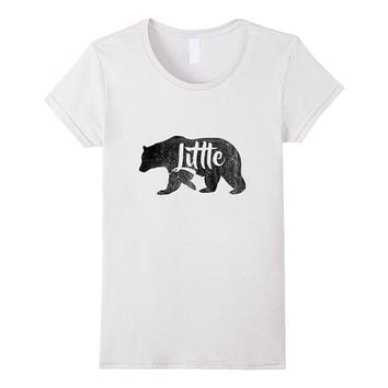 Kids- boys or girls Little Bear T-Shirt Awesome Camping Tee