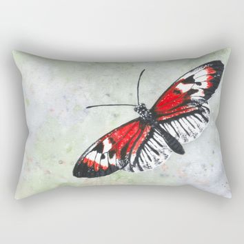Piano key Butterfly Rectangular Pillow by Savousepate