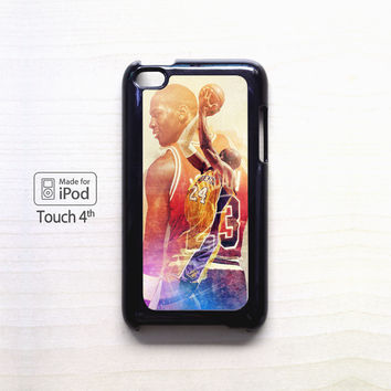 kobe bryant vs lebron james 2015 for Ipod 4/Ipod 5 apple case