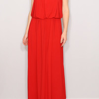 Red dress Summer Maxi dress Bridesmaid dress