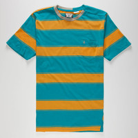 Volcom Square Crew Mens Pocket Tee Turquoise Combo  In Sizes