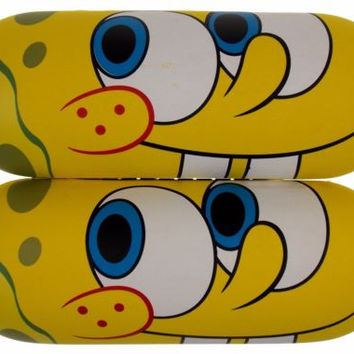 Nickelodeon Spongebob Squarepants Lot 2 Eye Sun Glasses Hard Case Yellow License