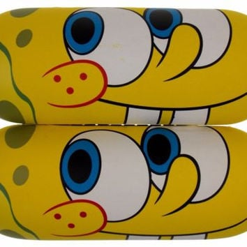 Lot 2 Nickelodeon Spongebob Squarepants Eye Sun Glasses Hard Case Yellow License